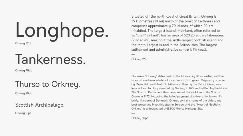 Шрифт Orkney скачать бесплатно