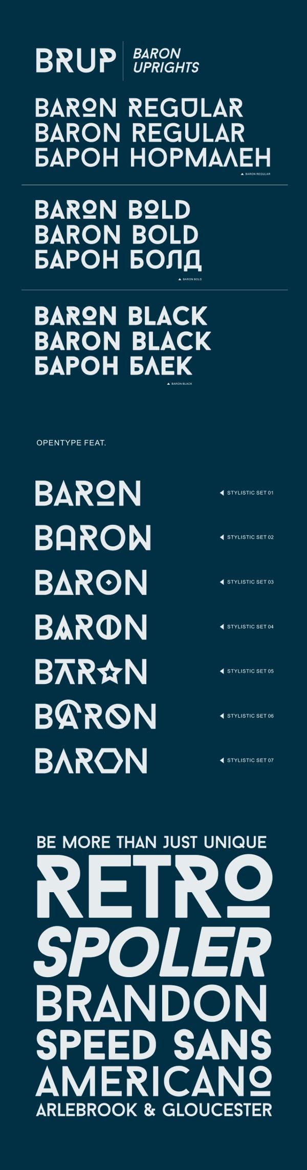 Шрифт Baron скачать бесплатно