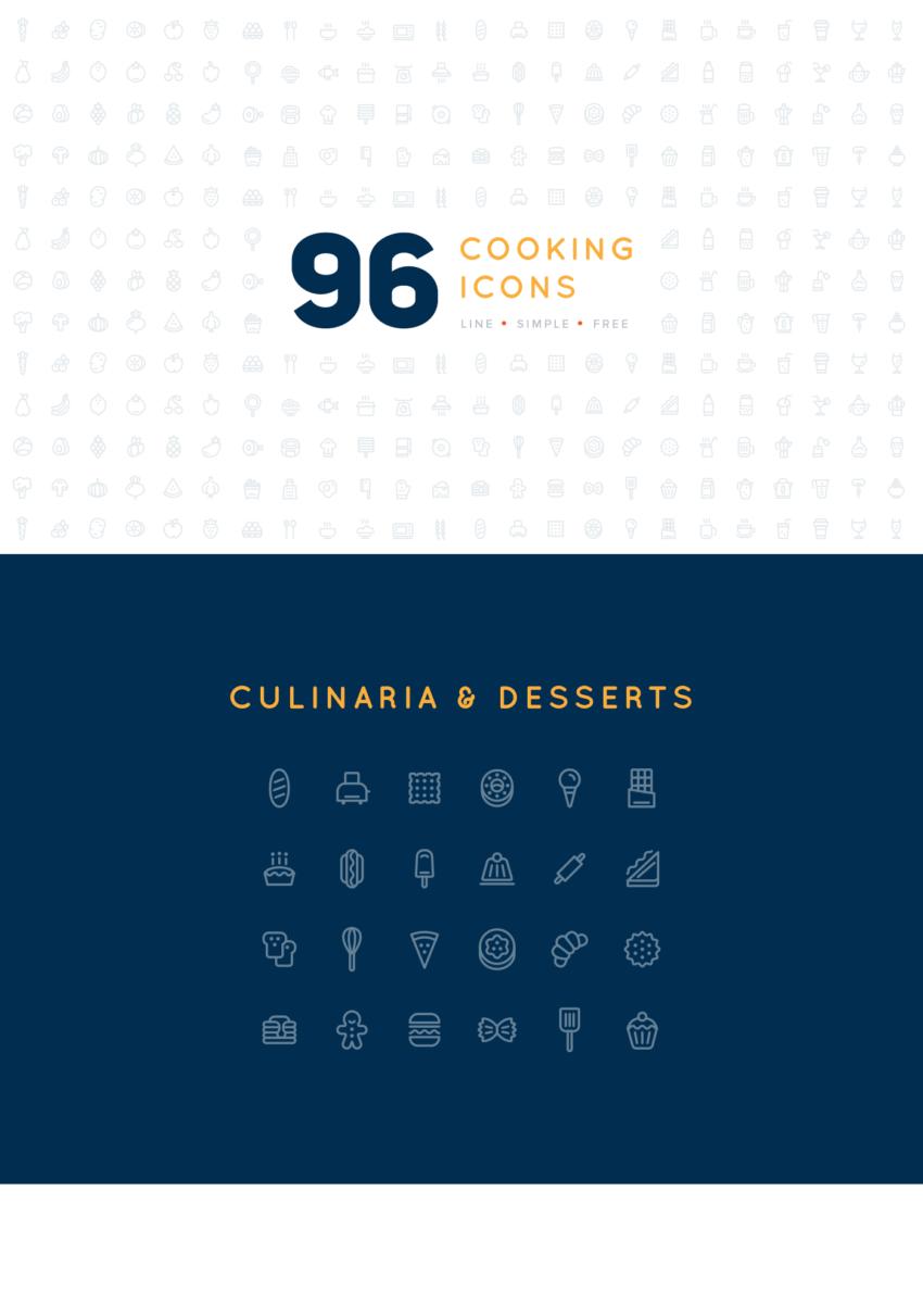 96 Cooking Icons (.Ai + .Eps + .Png) скачать бесплатно