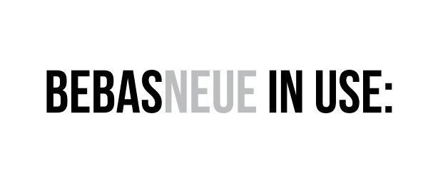 Шрифт Bebas Neue скачать бесплатно