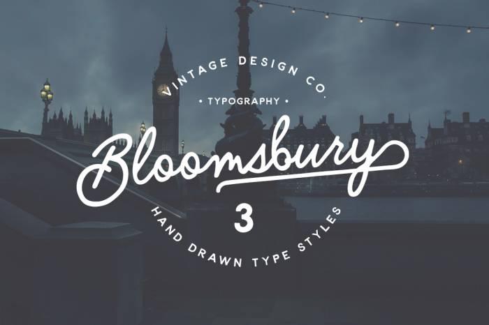 Шрифт Bloomsbury скачать бесплатно
