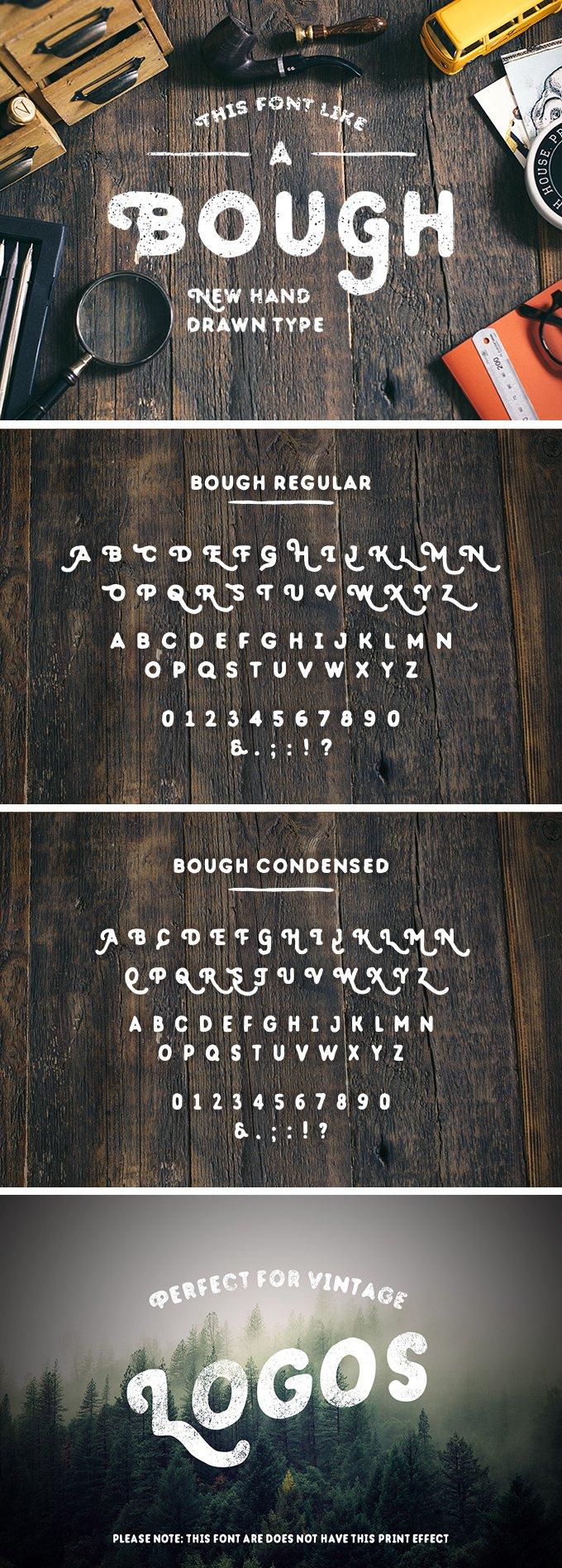 Шрифт Bough скачать бесплатно