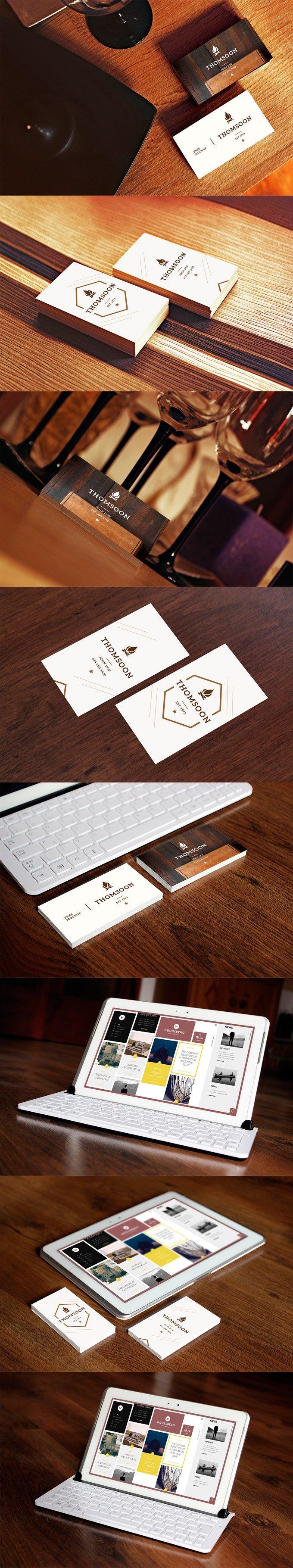 9+ Business Card Mockup (.Psd) скачать бесплатно