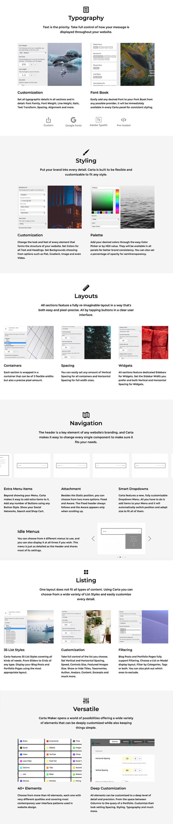 Carta WordPress theme (.PHP + .CSS) скачать бесплатно