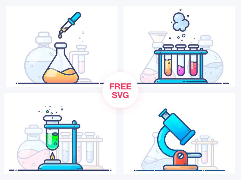 Chemistry Illustrations (.Png + .Svg) скачать бесплатно