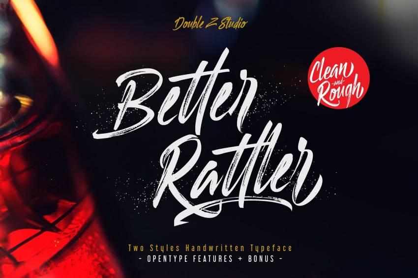 Шрифт BetterRattler скачать бесплатно
