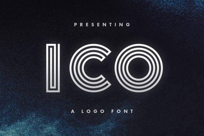 Шрифт Ico скачать бесплатно