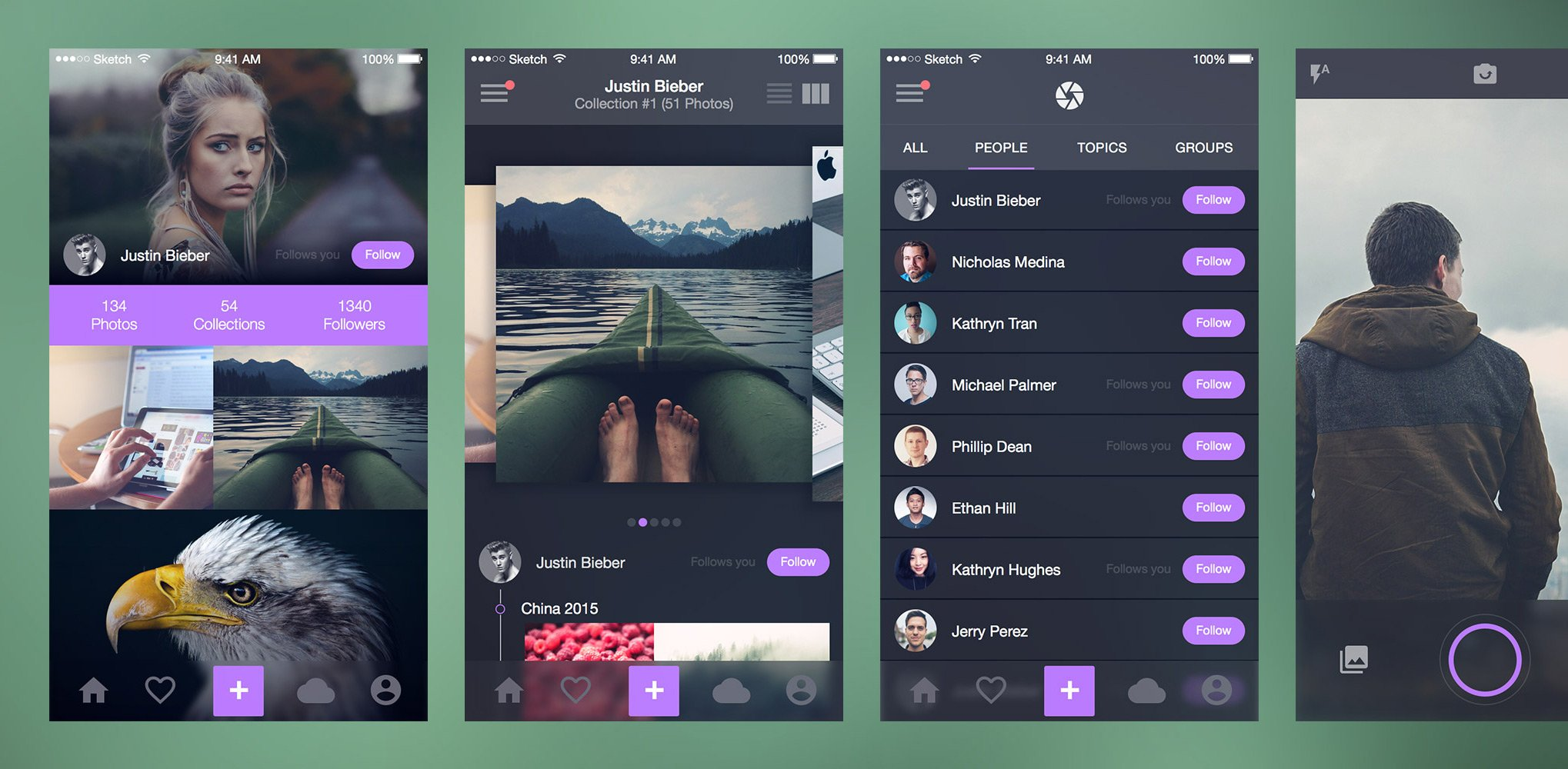Photo Splash iOS UI Kit ( Sketch) скачать бесплатно