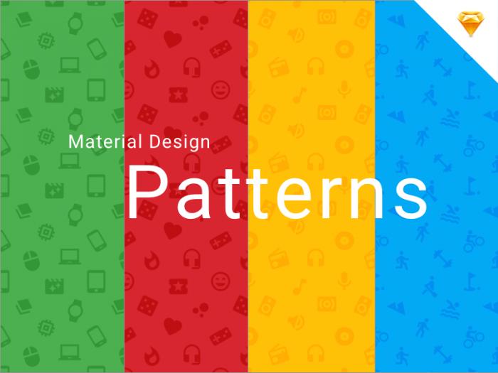 Material Design Icons Patterns (.Sketch) скачать бесплатно