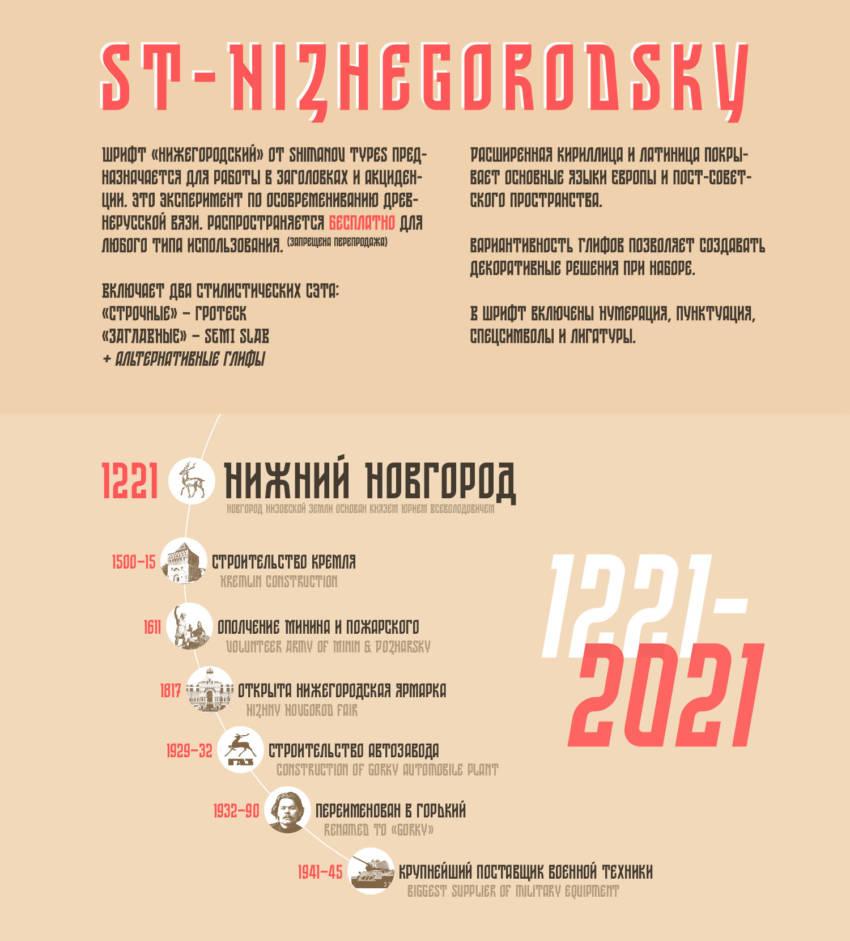 Шрифт Nizhegorodskiy скачать бесплатно