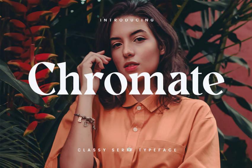 Шрифт Chromate скачать бесплатно
