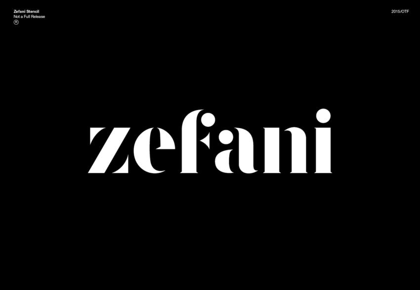 Шрифт Zefani скачать бесплатно