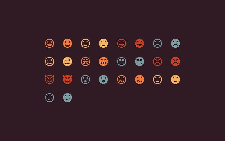 Emoticons иконки (.Psd) скачать бесплатно