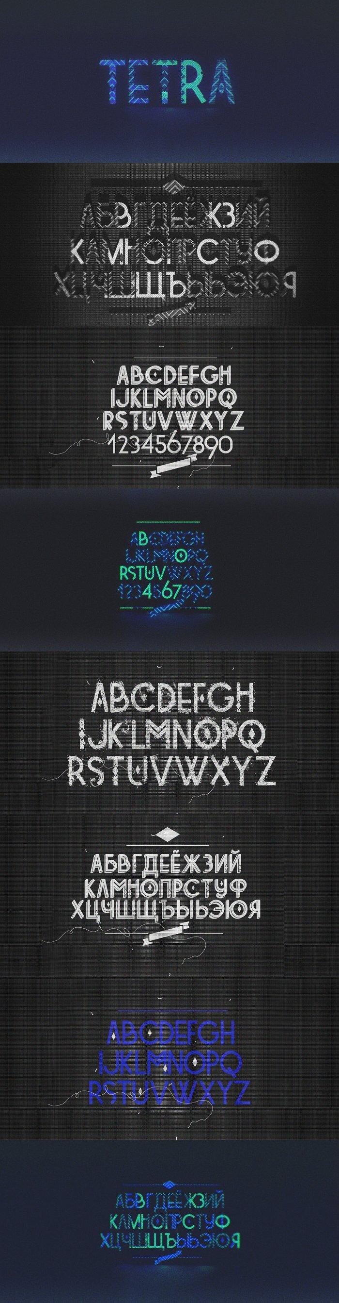 Шрифт Tetra скачать бесплатно