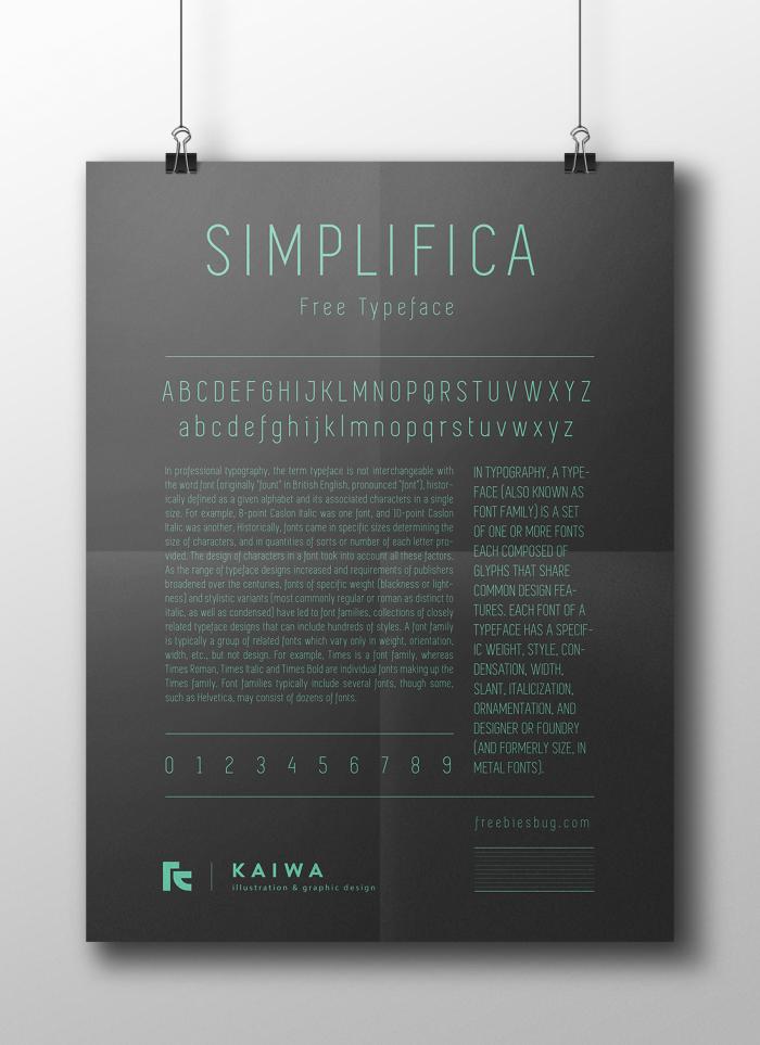 Шрифт Simplifica скачать бесплатно