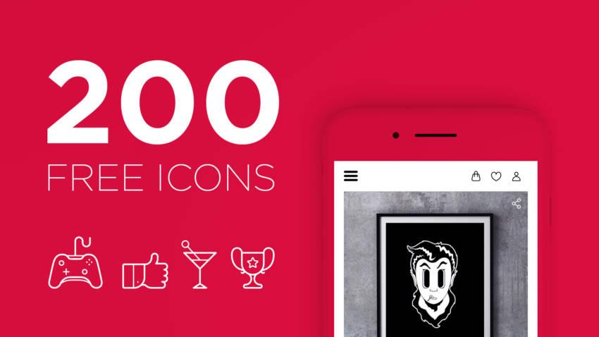 Free set of 200 vector icons (.Ai) скачать бесплатно
