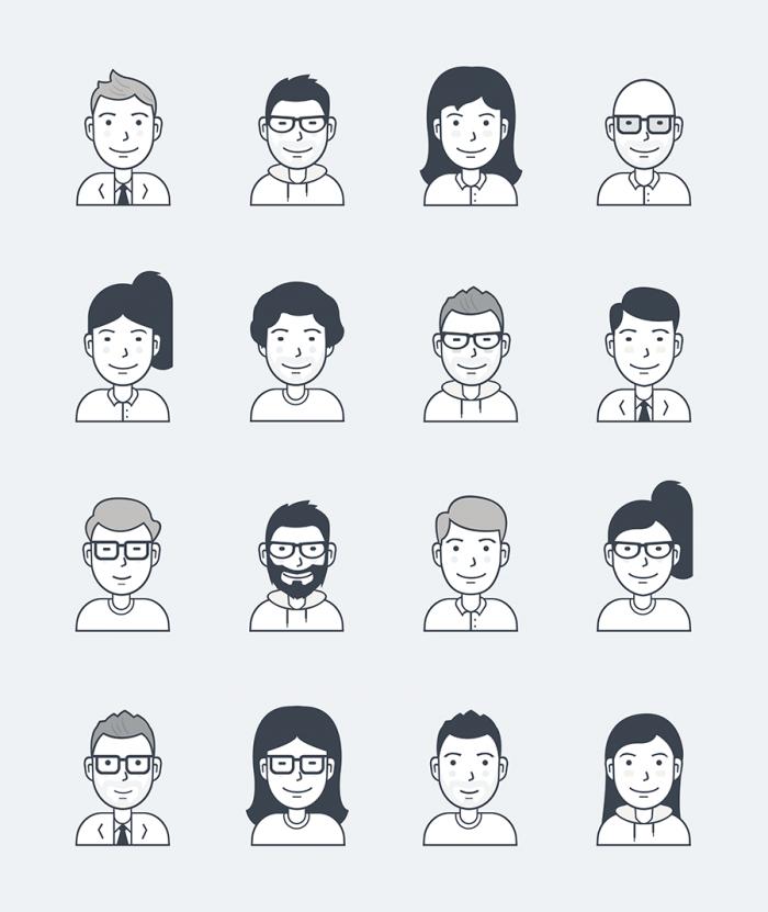 User Avatar Icons (.Svg) скачать бесплатно