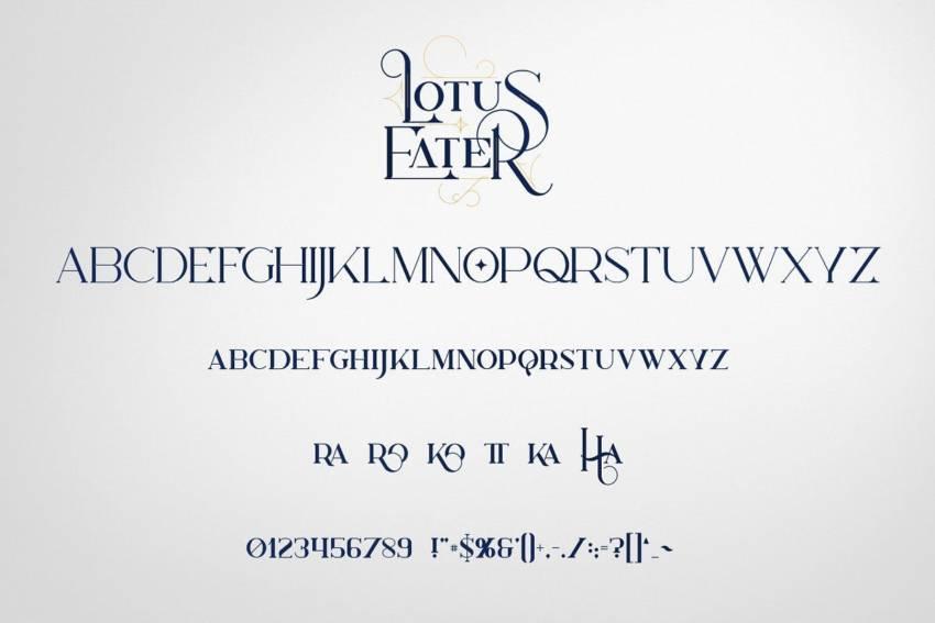 Шрифт Lotus Eater скачать бесплатно