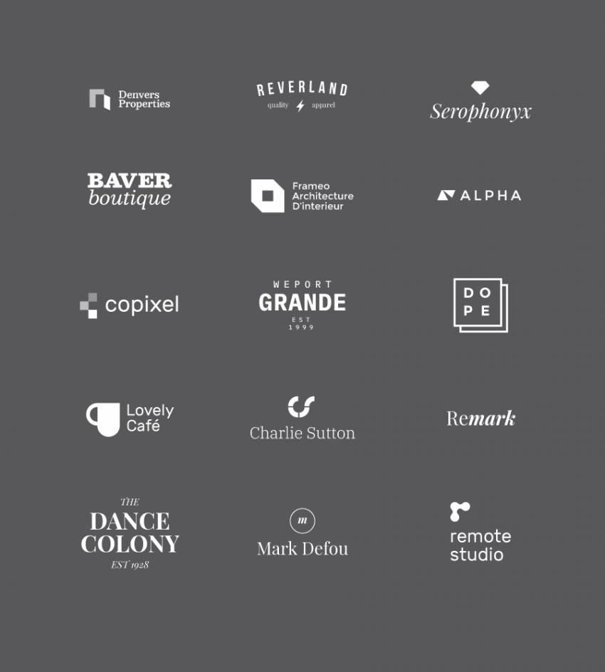 15 Free Minimal Logo Template (.Psd + .Ai + .Eps) скачать бесплатно