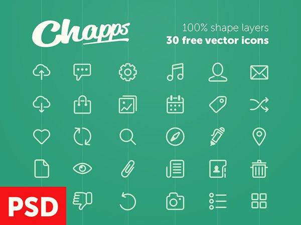 Chapps иконки (.Psd) скачать бесплатно