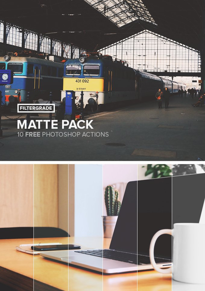 10 Matte Actions Pack (.Atn) скачать бесплатно
