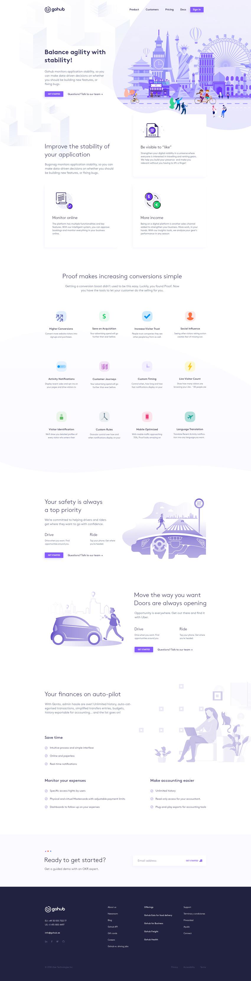 GoHub - Шаблон Landing Page (.Psd) скачать бесплатно