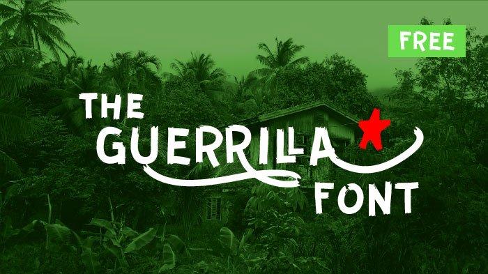 Шрифт Guerrilla скачать бесплатно