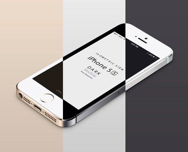 3D View iPhone 5s (.Psd) скачать бесплатно