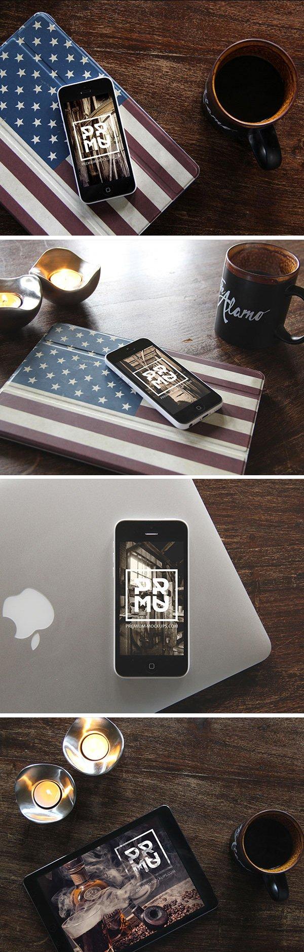 iPhone + iPad Photo MockUp (.Psd) скачать бесплатно