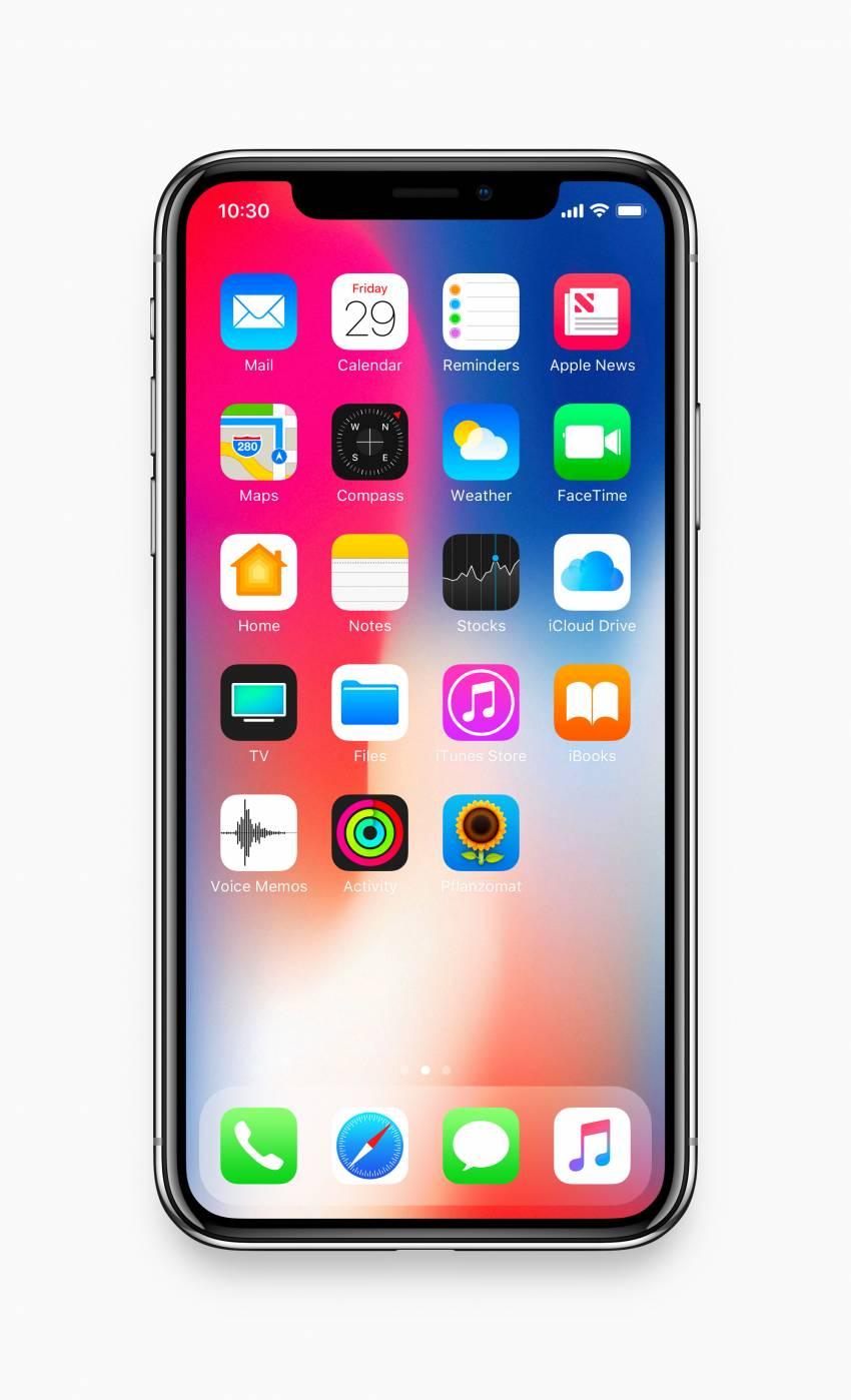iPhone X - Front Mockup (.Psd) скачать бесплатно