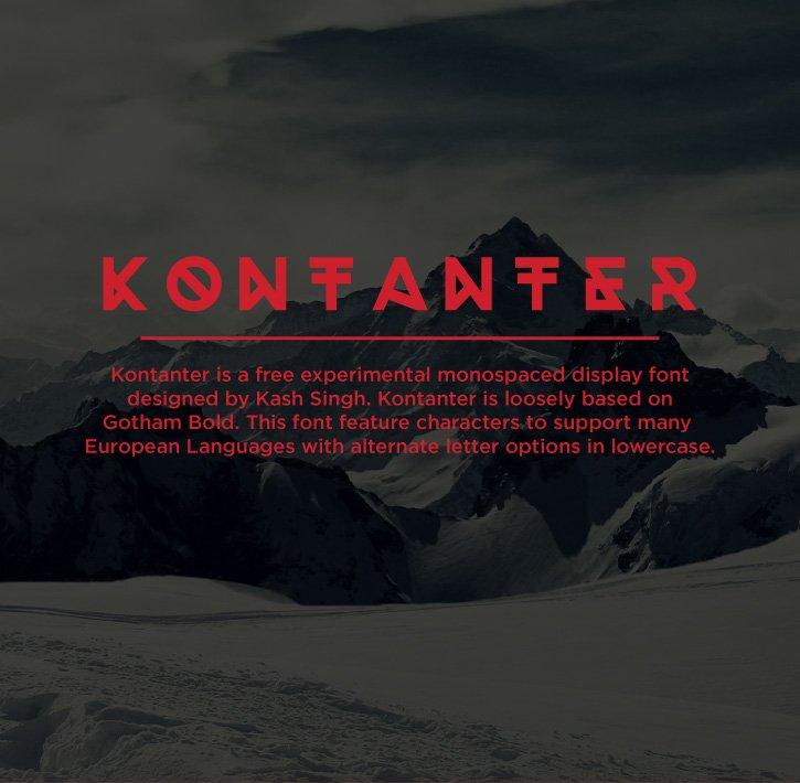 Шрифт Kontanter скачать бесплатно