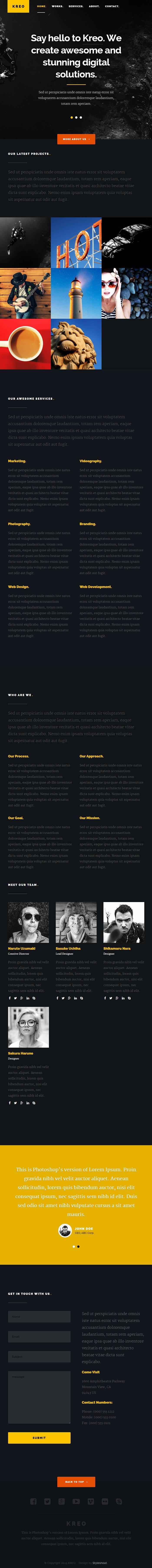 Kreo шаблон сайта (HTML5/CSS3) скачать бесплатно