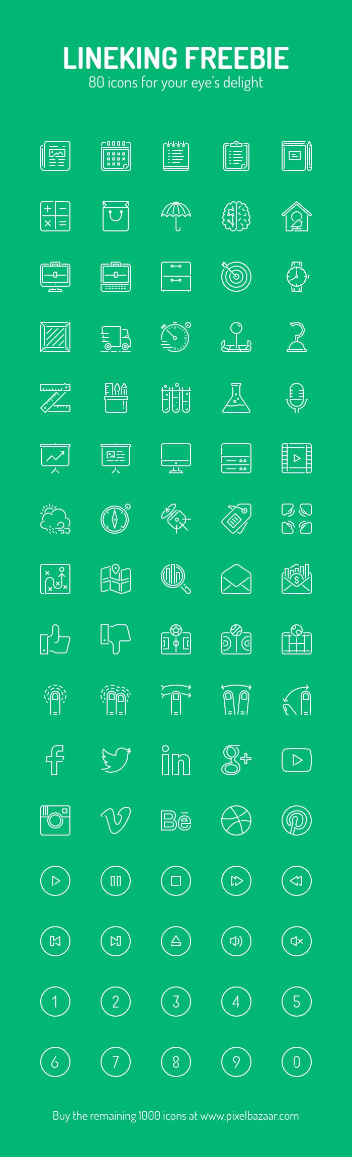 Lineking Free Icons (.Sketch) скачать бесплатно