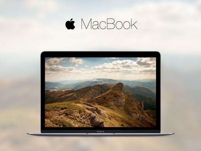Macbook 2015 mockup (.Psd + .Sketch) скачать бесплатно