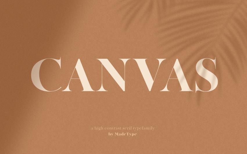Шрифт Made Canvas скачать бесплатно