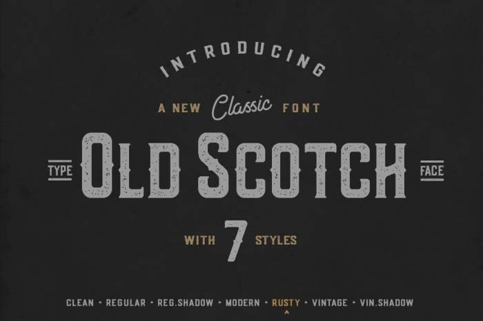 Шрифт Old Scotch скачать бесплатно