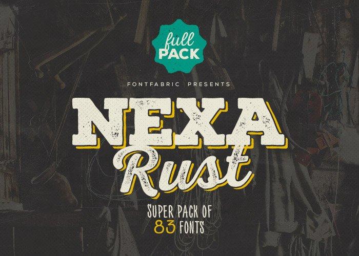 Шрифт Nexa Rust скачать бесплатно