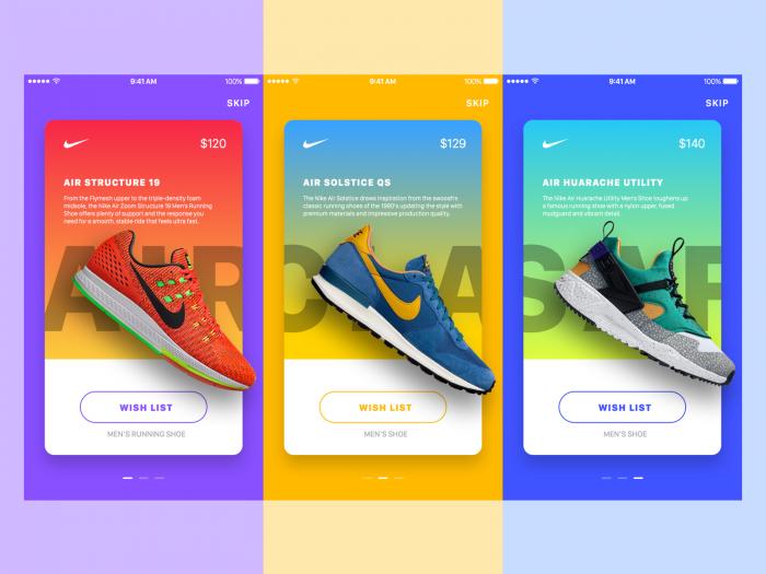 Nike Promotion Ads — Parallax Effect (.Sketch + .Prd) скачать бесплатно