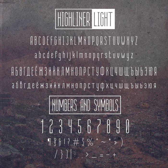 Шрифт Highliner скачать бесплатно