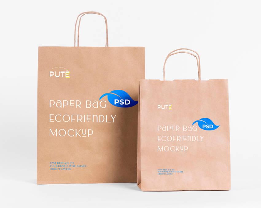 Eco Paper Bag Mockup (.Psd) скачать бесплатно