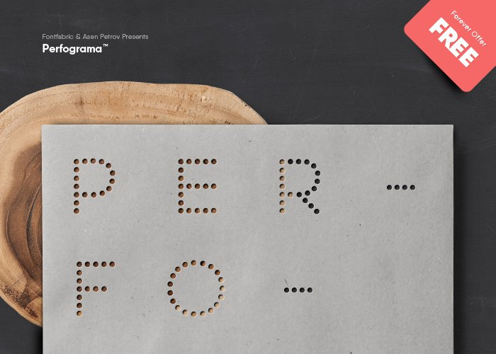 Шрифт Perfograma скачать бесплатно