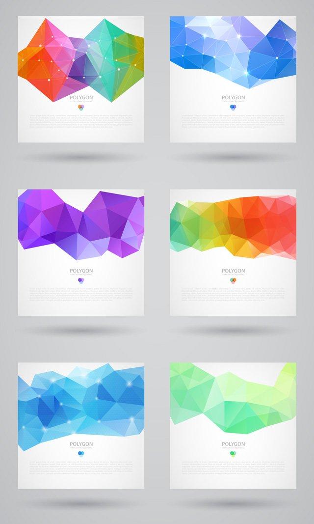Polygonal Backgrounds (.Ai) скачать бесплатно