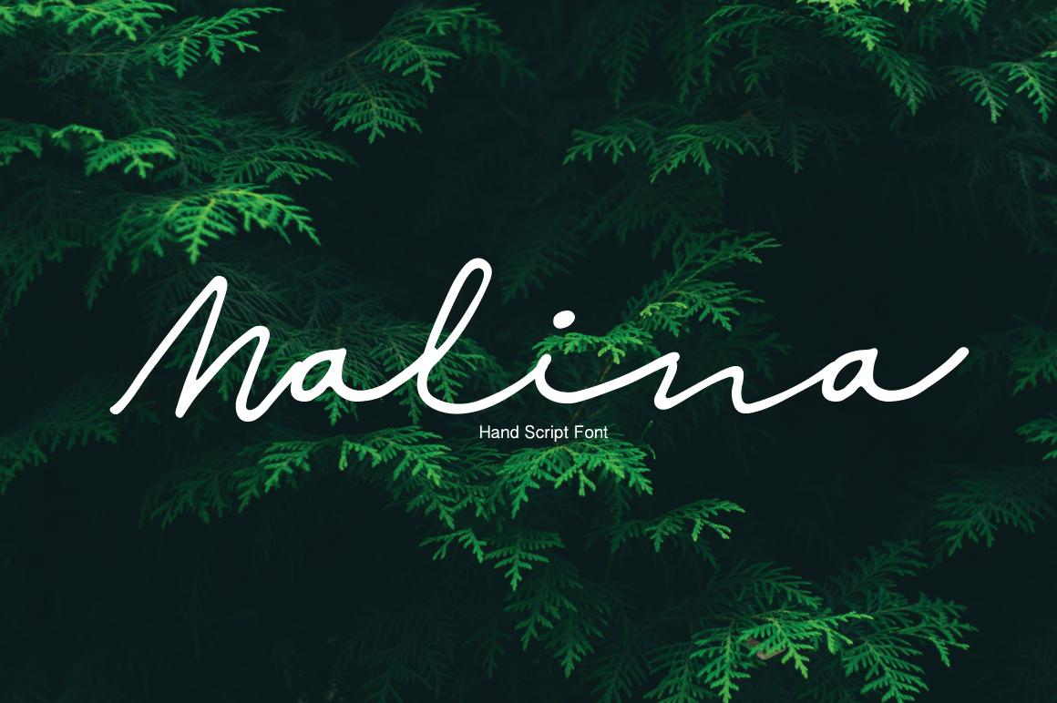 Шрифт Malina скачать бесплатно