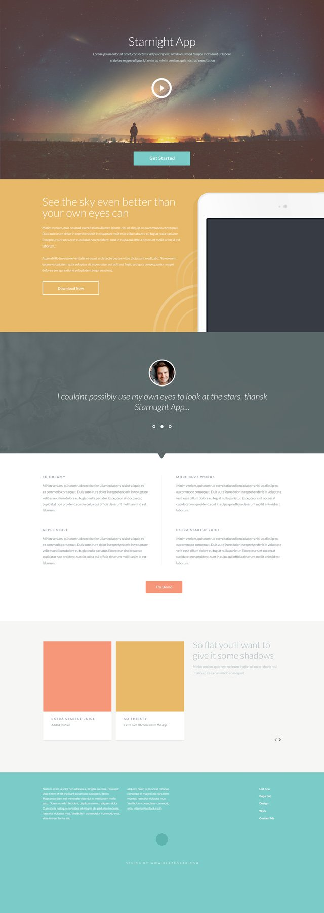 Шаблон сайта Starnight (HTML5 + .PSD) скачать бесплатно