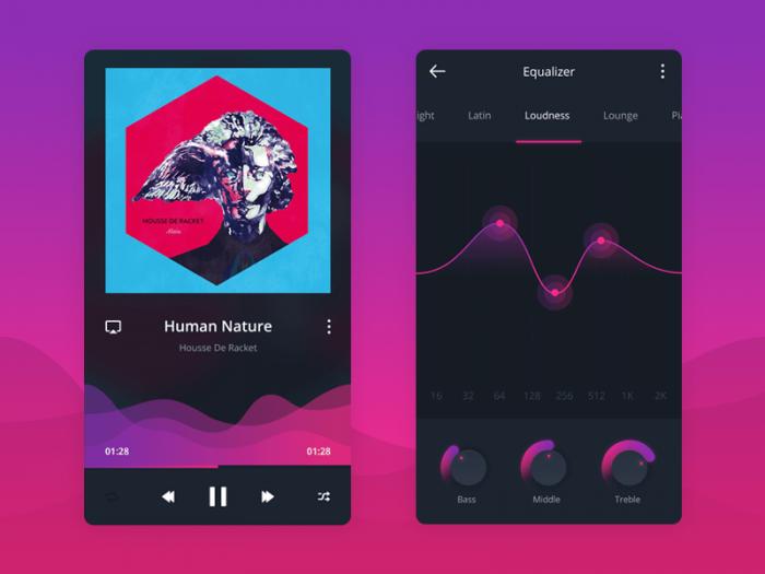 Music Social App (.Psd) скачать бесплатно