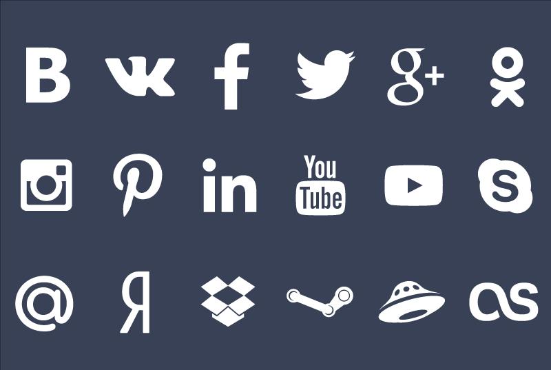 Иконки популярных сервисов (.Ai) скачать бесплатно