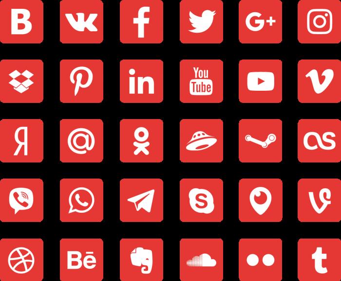 Иконки популярных сервисов (.Ai + .Psd + .Png) скачать бесплатно