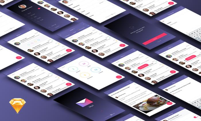Mail App Ui Kit (.Sketch) скачать бесплатно