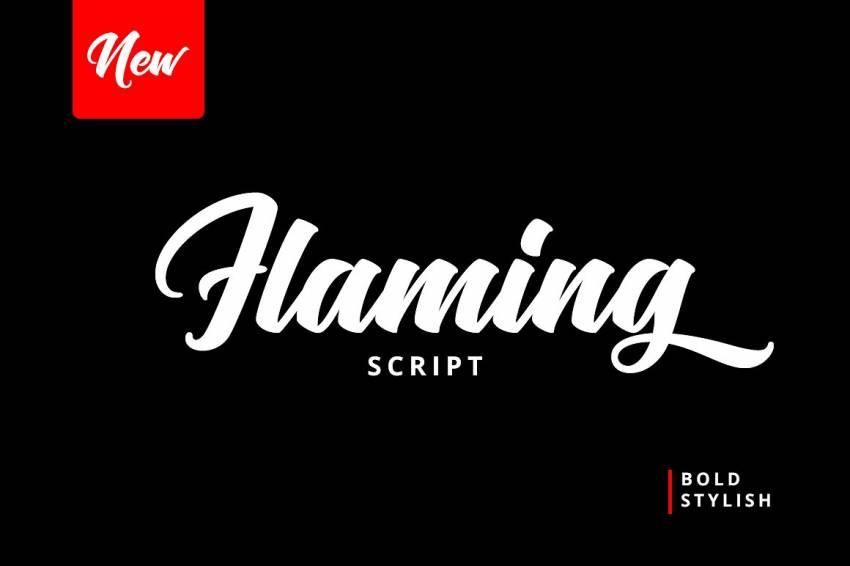 Шрифт Flaming Script скачать бесплатно