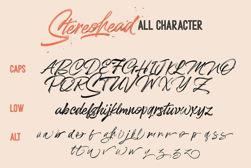 Шрифт Stereohead скачать бесплатно